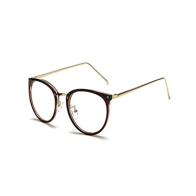 f0a7e7c5ce593 Hzjundasi Ordinateur Des lunettes Lumière bleue Filtre Vintage Lentille  claire Lecture Lunettes Homme Femme Anti ...