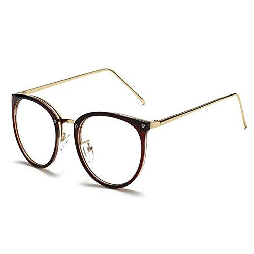 Hzjundasi Computer Brille Blaues Licht Filter Vintage Klare Linse Leser Brillen Männer/Frauen Anti-Augenleiden