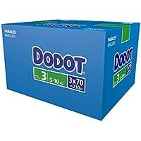 Dodot Pañales Talla 3 (5-10 Kg) - Paquete de 3 x 70 Pañales - Total: 210 Pañales