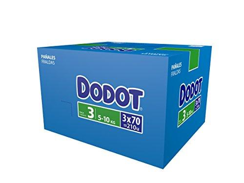 Dodot - Paquete de 3 x 70 pañales, talla 3