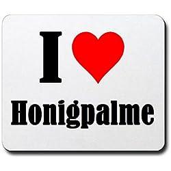 """Exklusive Geschenkidee: Mauspad """"I Love Honigpalme"""" in Weiss, eine tolle Geschenkidee die von Herzen kommt- Rutschfestes Mousepad- Weihnachts Geschenktipp"""