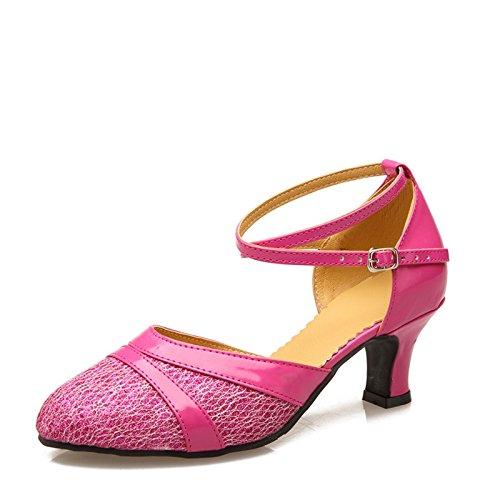 XPY&DGX Latino scarpe da ballo nel tacco alto adulto square dance scarpe rosa di grandi dimensioni, scarpe da ballo e danza moderna scarpe, 9 245MM