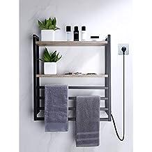 304 termostato de Acero Inoxidable toallero eléctrico tendedero doméstico baño Aseo calefacción toallero ...