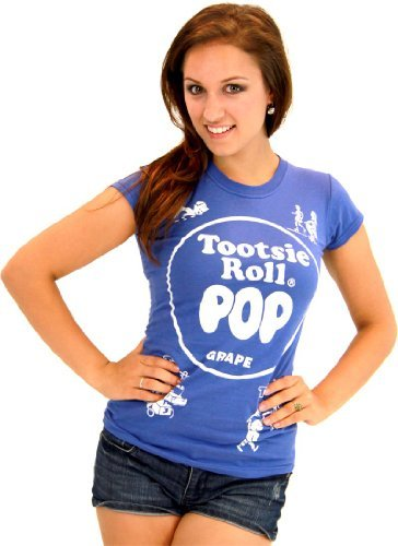Tootsie Roll Pop Assorted Grape blau Kostüm T-Shirt -