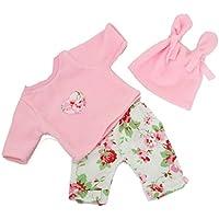 Handarbeit Puppenkleidung 43 cm passend für zb Baby Born Bekleidung Kleidung 09