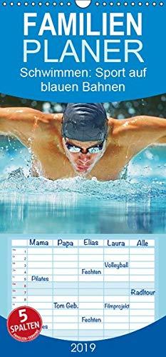 Schwimmen: Sport auf blauen Bahnen - Familienplaner hoch (Wandkalender 2019 , 21 cm x 45 cm, hoch): Das Wasser ist klar, die Bahnen sind frei: ... (Monatskalender, 14 Seiten ) (CALVENDO Sport) (Butterfly 1. Geburtstag)