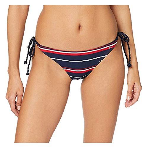 Tommy Hilfiger Damen String Side TIE Bikini Bikinihose Blau (Hrtg Logo STR Navy Blazer 411) 34 (Herstellergröße: XS)