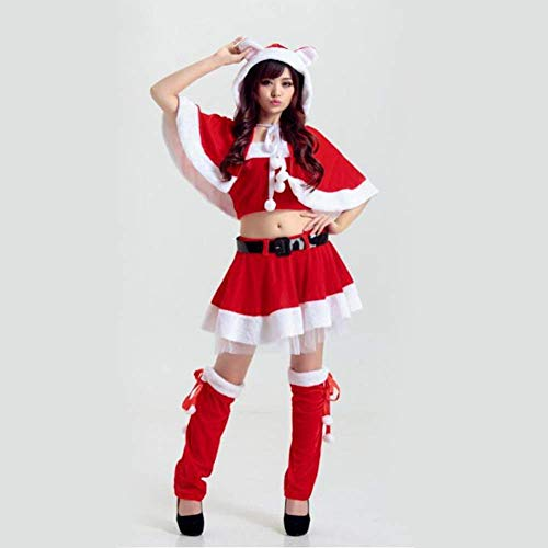 Weihnachts-Kostüme Foto Studio Red Christmas Service Night Shop DS Service Singer Clothes Ethylene Material Ladies ' ()