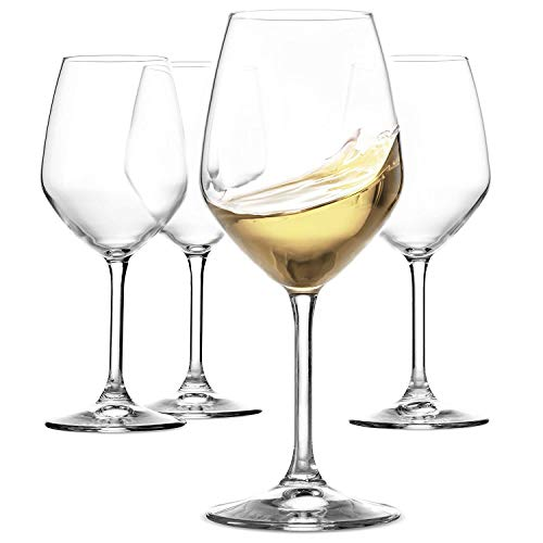 fe730f3415e Paksh Novelty Italian White Wine Glasses - 15 Ounce - Lead Free - Shatter  Resistant -