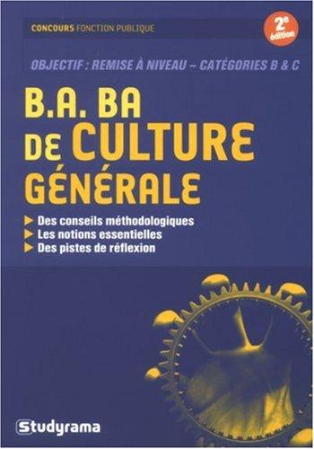 B.A. BA de culture gnrale