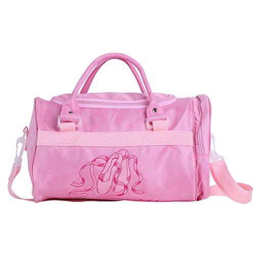 iiniim Ballett-Tasche Kindertanztasche Sporttasche Tasche Für Mädchen Fitness Sport Gymnastik Freizeit (Rosa) Rosa Softball-rucksack