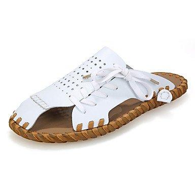 Hommes Confort et chaussons d'été PU extérieur Sandales talon plat sandales US9.5 / EU42 / UK8.5 / CN43