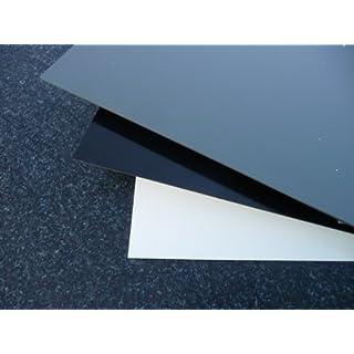 Platte aus Hart PVC, 495 x 495 x 3 mm schwarz Zuschnitt alt-intech®