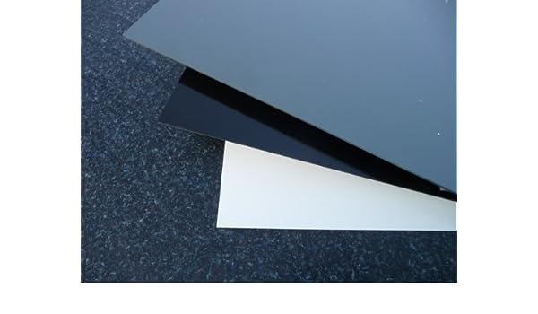 Plaque coup/é de PVC rigide 1000 x 495 x 3 mm gris RAL 7011