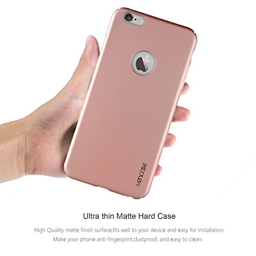 """Für iphone 6s Hülle , ivencase Prämie Hoch Qualität Ultra Slim Scrub PC [Vollrand Schutz] Hart Schutzhülle für Apple iphone 6/6s/ iphone Air 4.7"""" Rose Rose"""