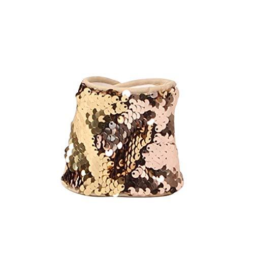 ZYCX123 Mermaid-Armband für Partei-Bevorzugungen, Geburtstags-Geschenke, Zweifarben-Wende Charm Pailletten-Armband Magie Beruhigende Armbänder für Kinder(Champagner)