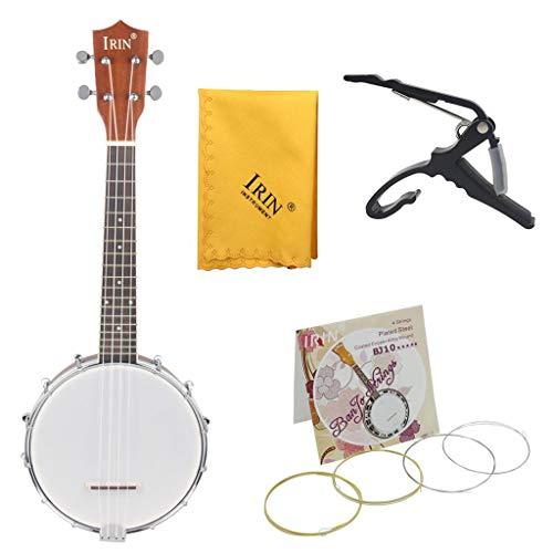 gazechimp IRIN 4 String Tenor Banjo Musikinstrument Für Anfänger Mit Capo Saiten