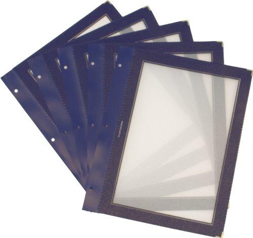 securit-a4-inserti-in-legno-per-menu-formato-a5-colore-blu-set-da-5