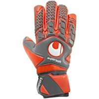 UHLSPORT - AERORED SUPERSOFT HN - Gant gardien football - Paume Latex Supersoft - Coupe Semi-Négative - Homme
