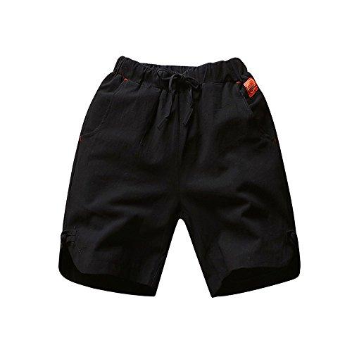 IMJONO Männer Hosen,2019 Jubiläumsfeier Lässiger dünner Strandhosen für Männer Leinenschlauchhose aus festem Stoff(XXXXX-Large,Schwarz) Gap Straight Fit Jeans
