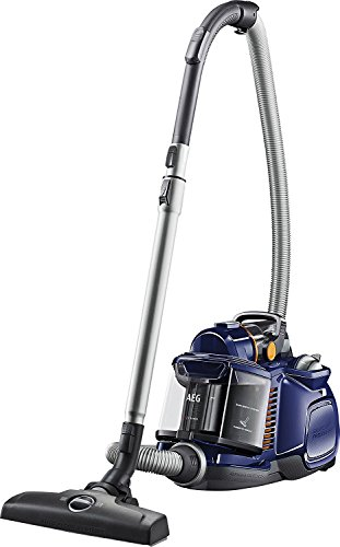 AEG LX7-1-DB Staubsauger ohne Beutel EEK A (700 Watt, inkl. Hartbodendüse, 9 m Aktionsradius, Softräder, 1,4 Liter Staubbehälter, waschbarer Hygiene Filter E12) Blau