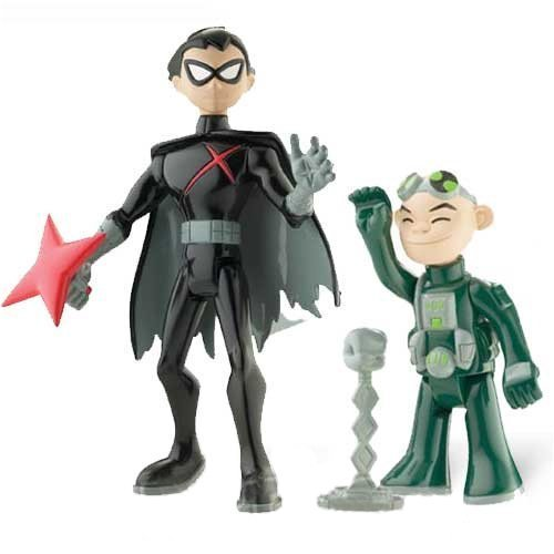 teen-titans-35-action-figure-2pack-gizmo-red-x-robin-by-teen-titans