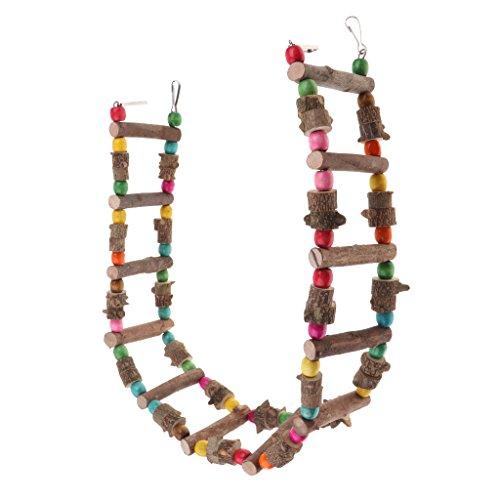 petsola Holz Leiter Hängebrücke Schaukel Spielzeug Für Vogel Papagei Graupapagei - 100 cm