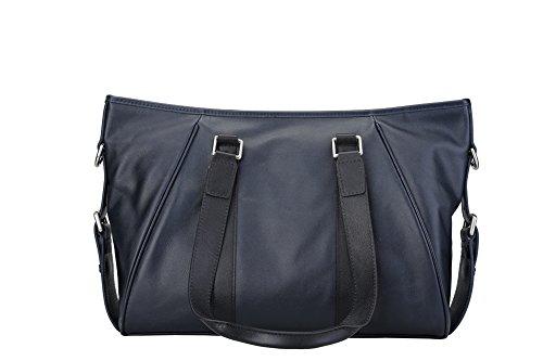 Genda 2Archer Casuale Borsa iPad Borsa a Tracolla in Pelle Morbida per gli Uomini (37cm*12,5cm* 28cm) (Blu) Blu