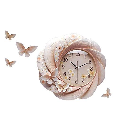 LINA Creative Horloge Murale Moderne Minimaliste De Mode Horloge Murale Salon Chambre Bricolage Montre Décoration Environnementale Maison Élégant De Luxe Mute Stéréo Ronde Mute Horloge À Quartz