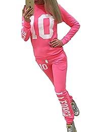 Hibote Abbigliamento Sportivo Donna Tuta sportiva Morbida comoda Fitness  Yoga Tute pullover a maniche lunghe Pantaloni 2 pezzi Vestiti Set… 7e79dcdd0c4