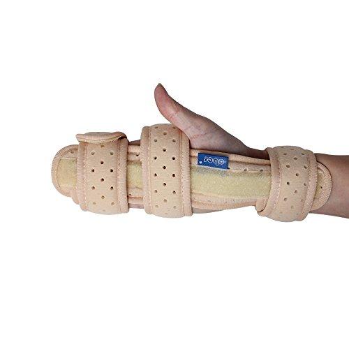 Ober - Tutore per polso con stecche in alluminio e strap, adatto per sindrome del tunnel carpale, frattura e dolore da artrite