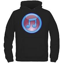 Sudadera con capucha Music Superhero Logo by Shirtcity