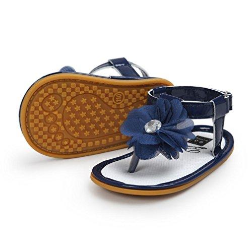 Xinantime , Chaussures premiers pas pour bébé (fille) kaki 12~18 Month bleu