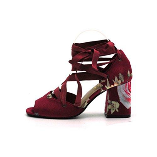 Qpyc Les Femmes Avec Des Talons Hauts Et Des Doigts Ouverts Ont Une Bouche De Poisson Rugueuse Avec Des Chaussures Simples 38