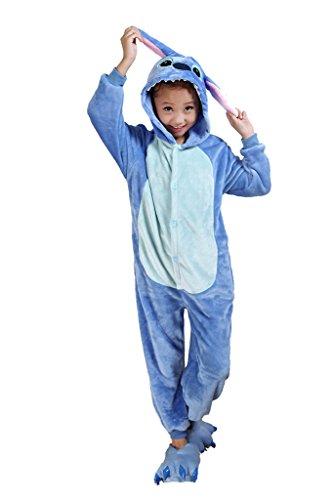 (Auspicious Beginning Blau-Stich scherzt Schlafanzüge Tier Cosplay Kostüm Baby-Body Sleepsuit Freizeitkleidung Kigurumi Pyjama)