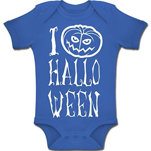 Shirtracer Anlässe Baby - I Love Halloween - 1-3 Monate - Royalblau - BZ10 - Baby Body Kurzarm Jungen Mädchen (Witze Kinder Halloween über)