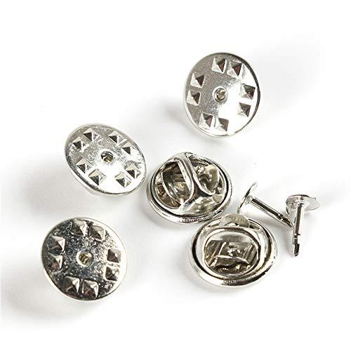 Hihey 100 Paar Schmetterling Clutch Tie Reißzwecken, Borte Schmetterling Clutch Pin Schmetterling Clutch mit Pins für Kleidung Crafting Schmuck Schnalle -