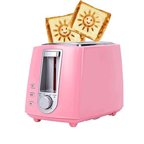 Toaster Home Kleines Frühstücksautomat Automatischer Toaster 2 Bodentoast-Multifunktions-Schlafsaal Small Power Test Mit Smiley-Muster