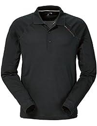 Musto Evolution Sunblock Long Sleeve Polo Top in Black SE0254