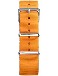 Oxygen EX-N-STR-22-OR - Correa de nailon unisex, color naranja (22.0 mm)
