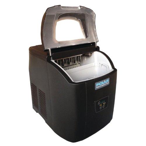 415TiBsbYNL. SS500  - Polar Counter Top Ice Maker 10kg Output 380X305X380mm Black Manual Fill Machine