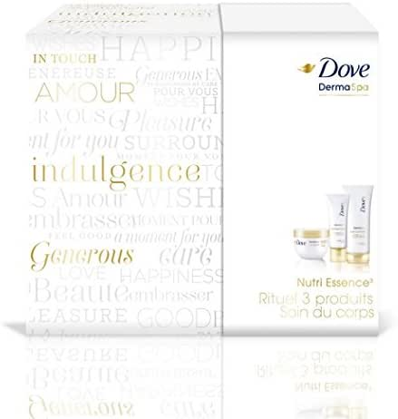 DOVE Coffret Cadeau pour femme Boîte Dermaspa Nutri Essence3