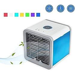 DYR Climatiseur portatif, Mini-Ventilateur pour Refroidisseur d'humidificateur USB pour Le Bureau, dortoir, Ventilateur de Refroidissement pour climatiseur de Nuit -A