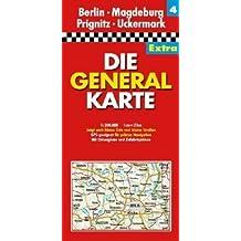 Die Generalkarte Extra Berlin, Magdeburg, Prignitz, Uckermark 1:200 000