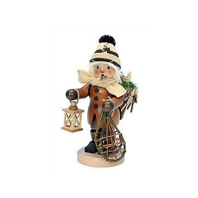 Christian Ulbricht 1–189 Räuchergefäß–Junge mit Schneeschuhen und Toys im Rucksack–2,5cm H x 12,7cm W x 17,1cm D