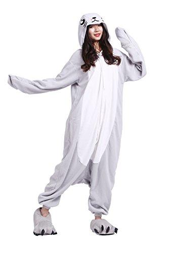 Dichtung Tier Kostüm - HSTYLE Unisex-Erwachsene Onesies Kigurumi Pyjamas Tier