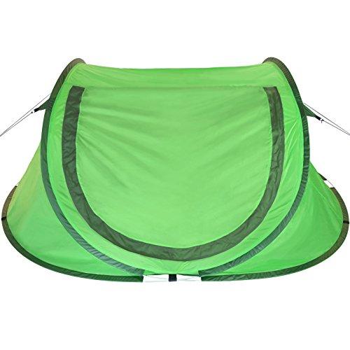 BB SPORT Pop-Up Zelt NESSY Wurfzelt für 2 Personen Wassersäule 3000 mm, Farbe:Wild Green