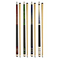 "Set of 4 Pool Cues New 58"" Billiard House Bar Pool Cue Sticks"