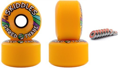 sector-9-skiddles-orange-70mm-78a-longboard-slide-wheels-set-of-4-with-bearings-by-sector-9