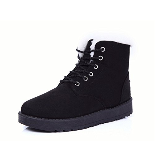 Scarpe da donna,Xinantime Moda Stivali Caviglia Piatto Inverno caldo Scarpe da neve (nero, 39)